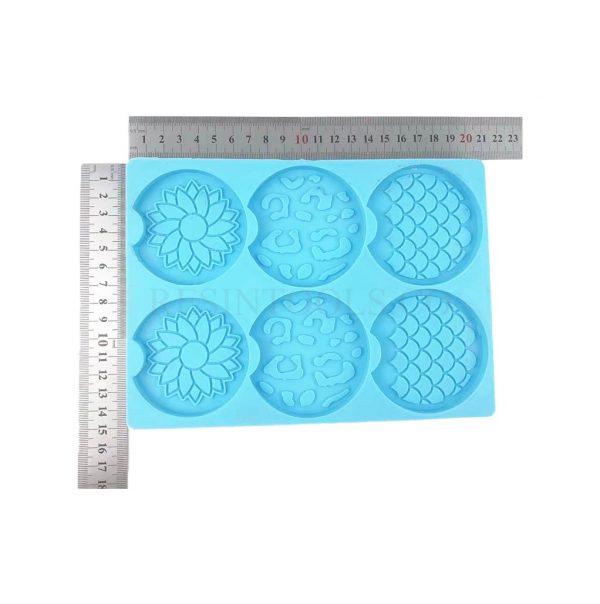 6 Pcs of Coasters Mermaid Pattern 1- RESINTOOLS.CO