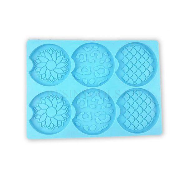 6 Pcs of Coasters Mermaid Pattern- RESINTOOLS.CO