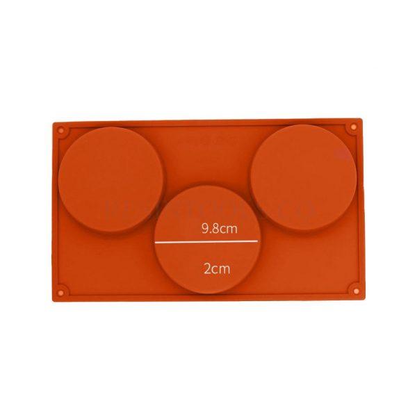3 Coaster Mold measurment- RESINTOOLS.CO