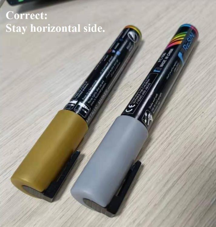 Correct way 2 of using Metallic Acryllic marker - Resintools.co