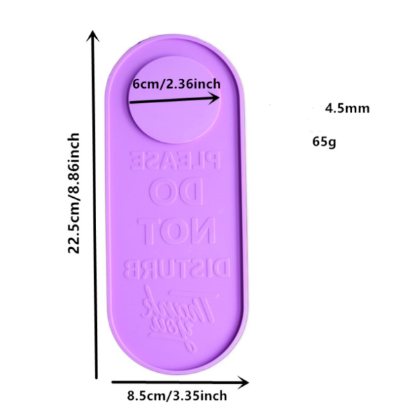 Do Not Disturb Door Hanger Mold Measurment - Resintools.co