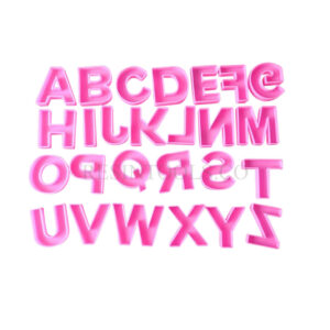 Big English Letters - Resintools.co