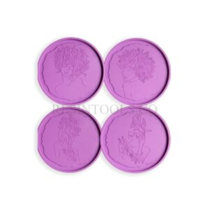 Resin Round Body Line Coaster Mold- Resintools.co