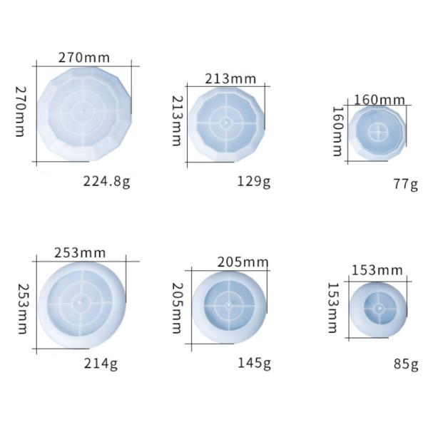 Round 3D Fruit Tray measurment - Resintools.co