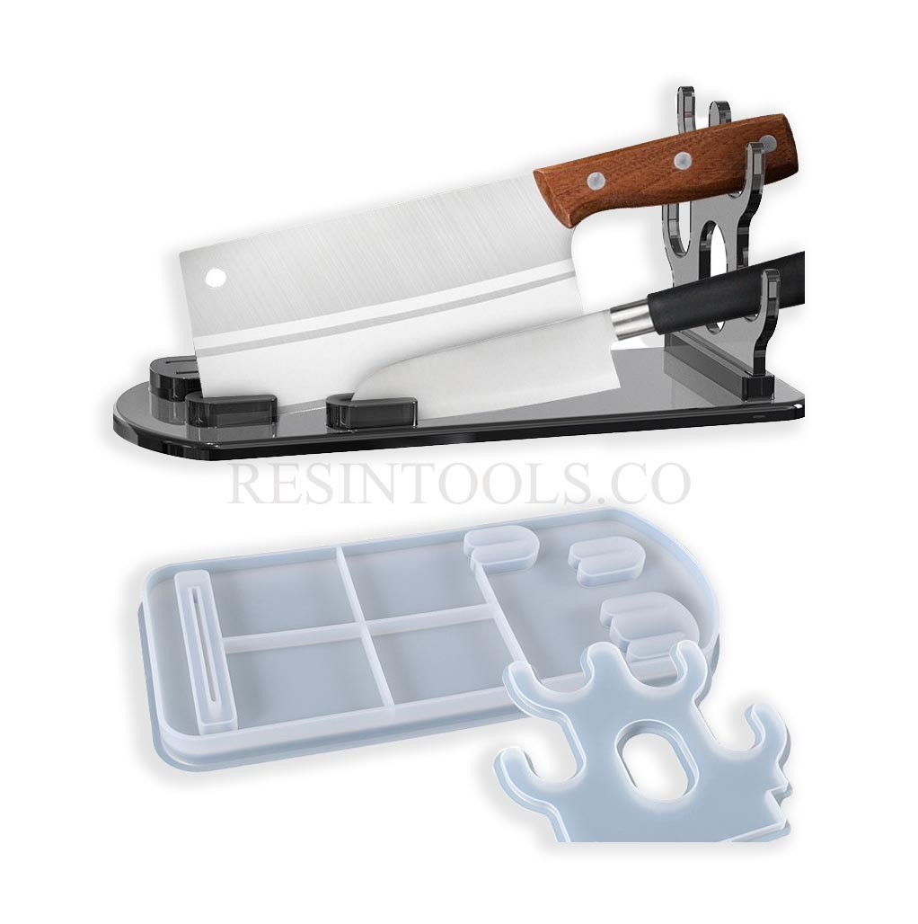 Kitchen Knife Display Stand - Resintools.co